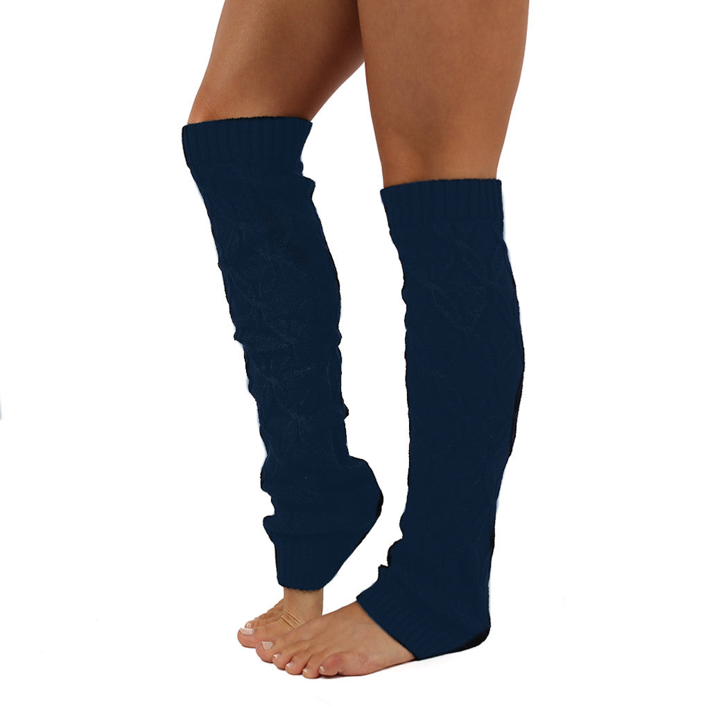 Keep Me Cozy Leg Warmer in Navy