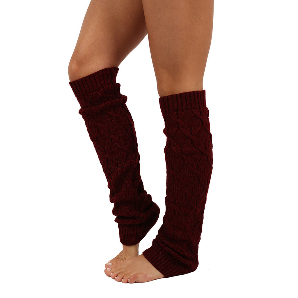 Keep Me Cozy Leg Warmer in Burgundy