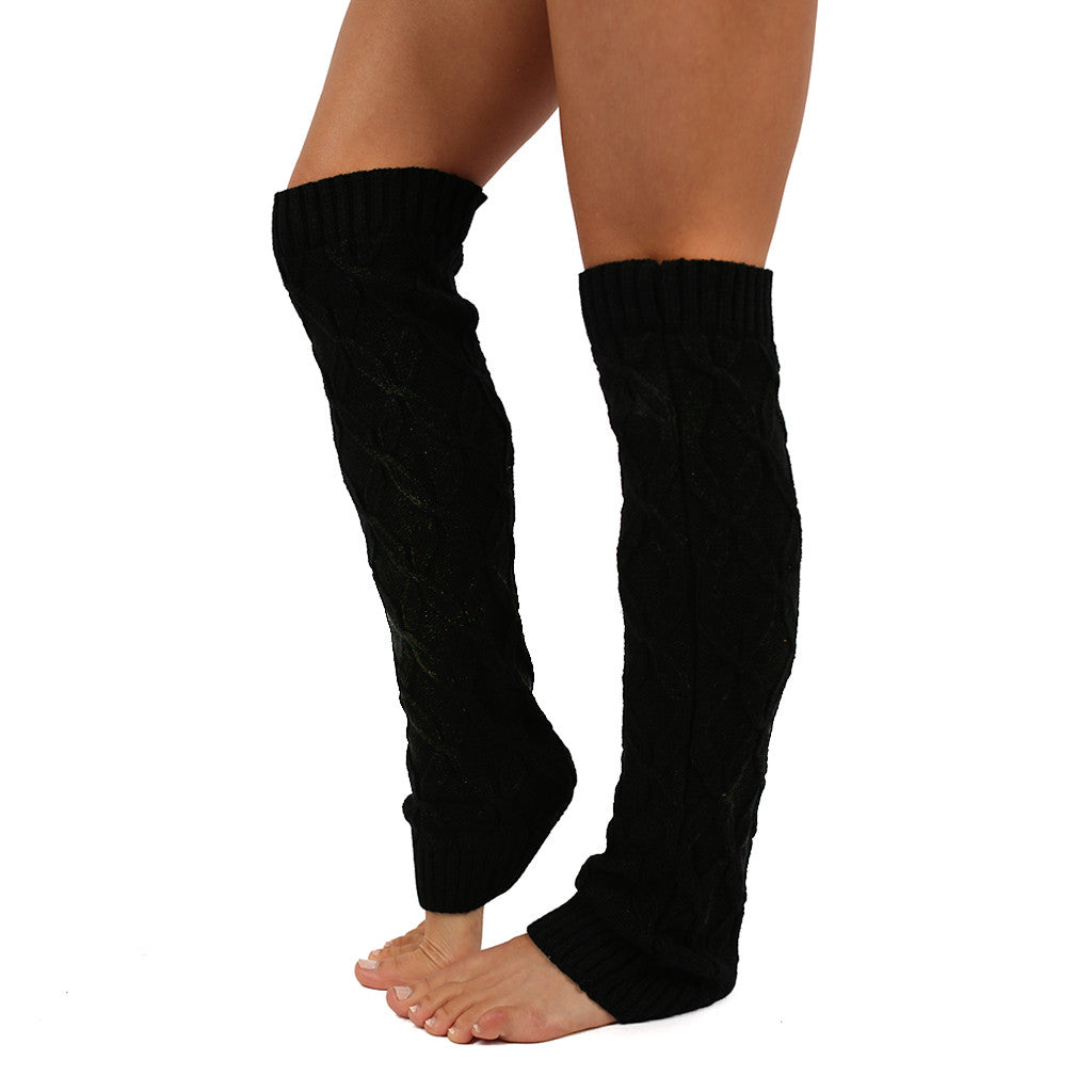 Keep Me Cozy Leg Warmer in Black