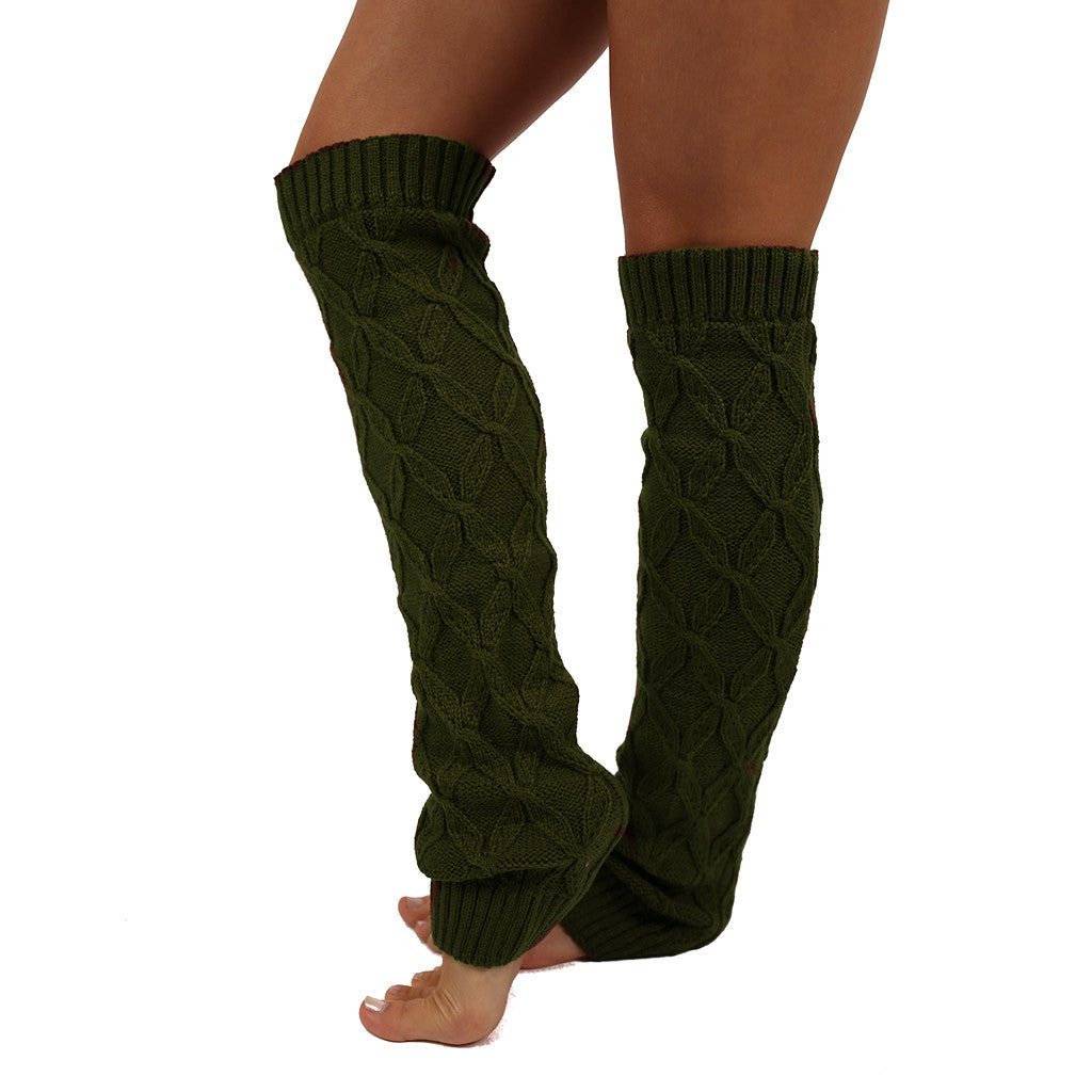 Keep Me Cozy Leg Warmer in Dark Olive