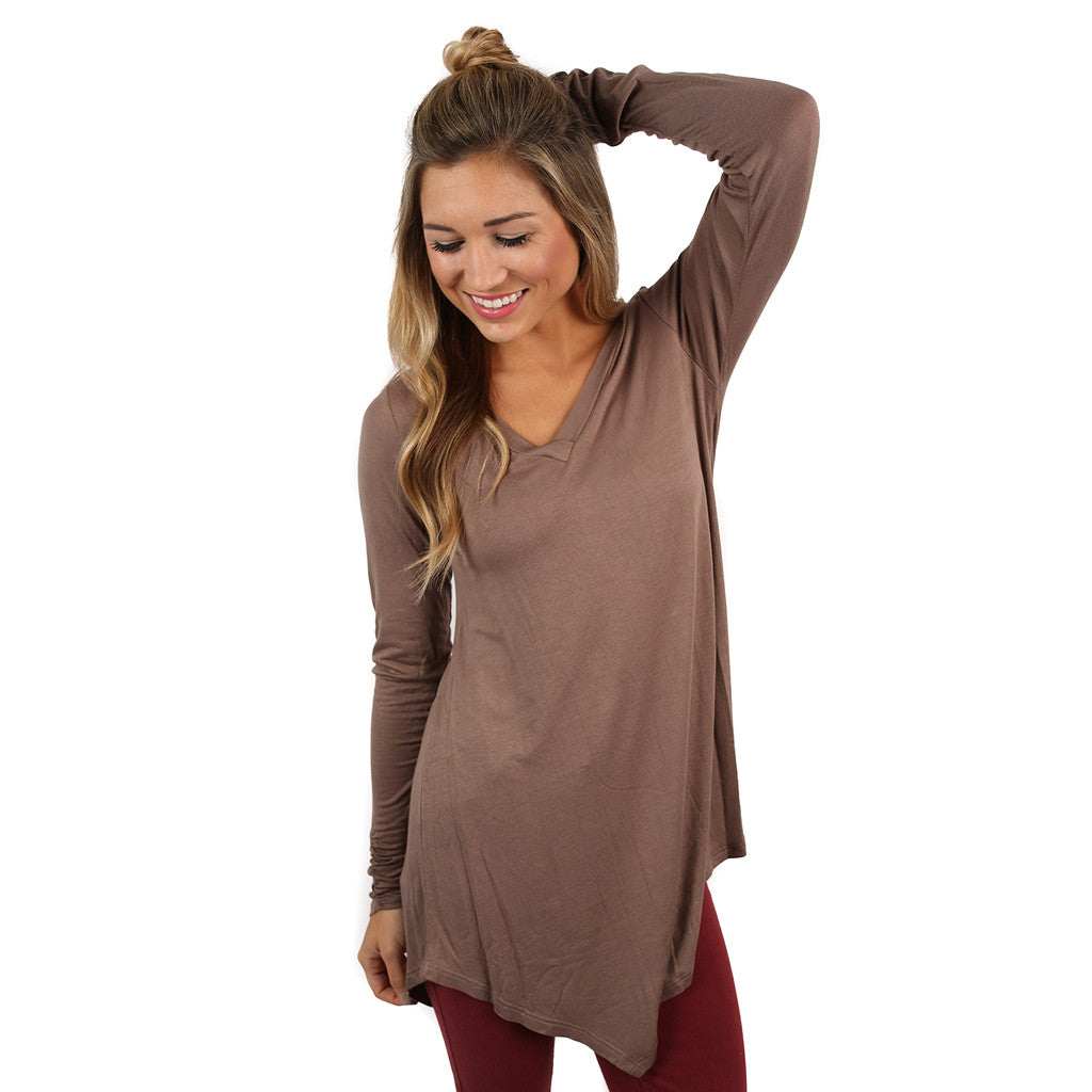 Not Your Boyfriend's Tee in Mocha