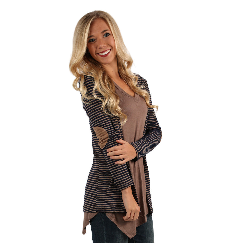 Miss Big City Cardi in Navy