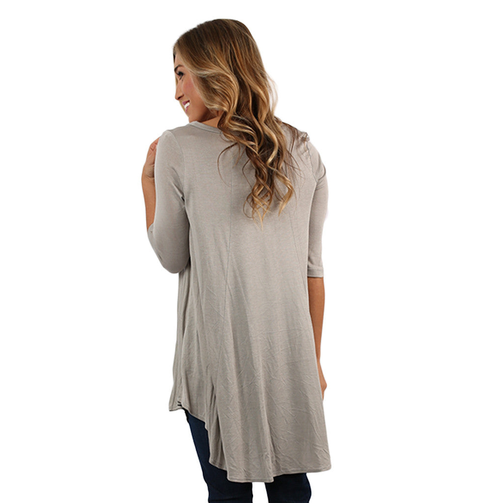 Swing With Me Tunic in Grey