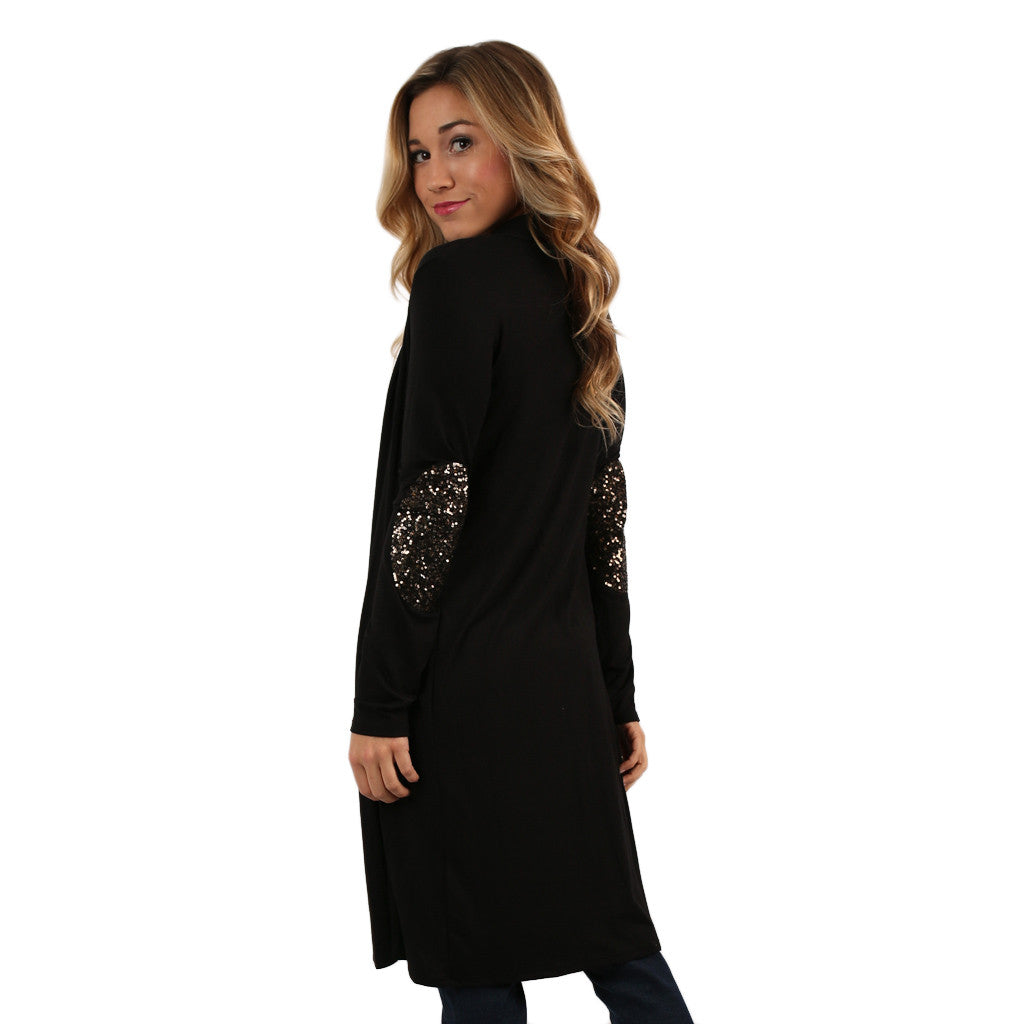 Weekend Sparkles Cardi Black