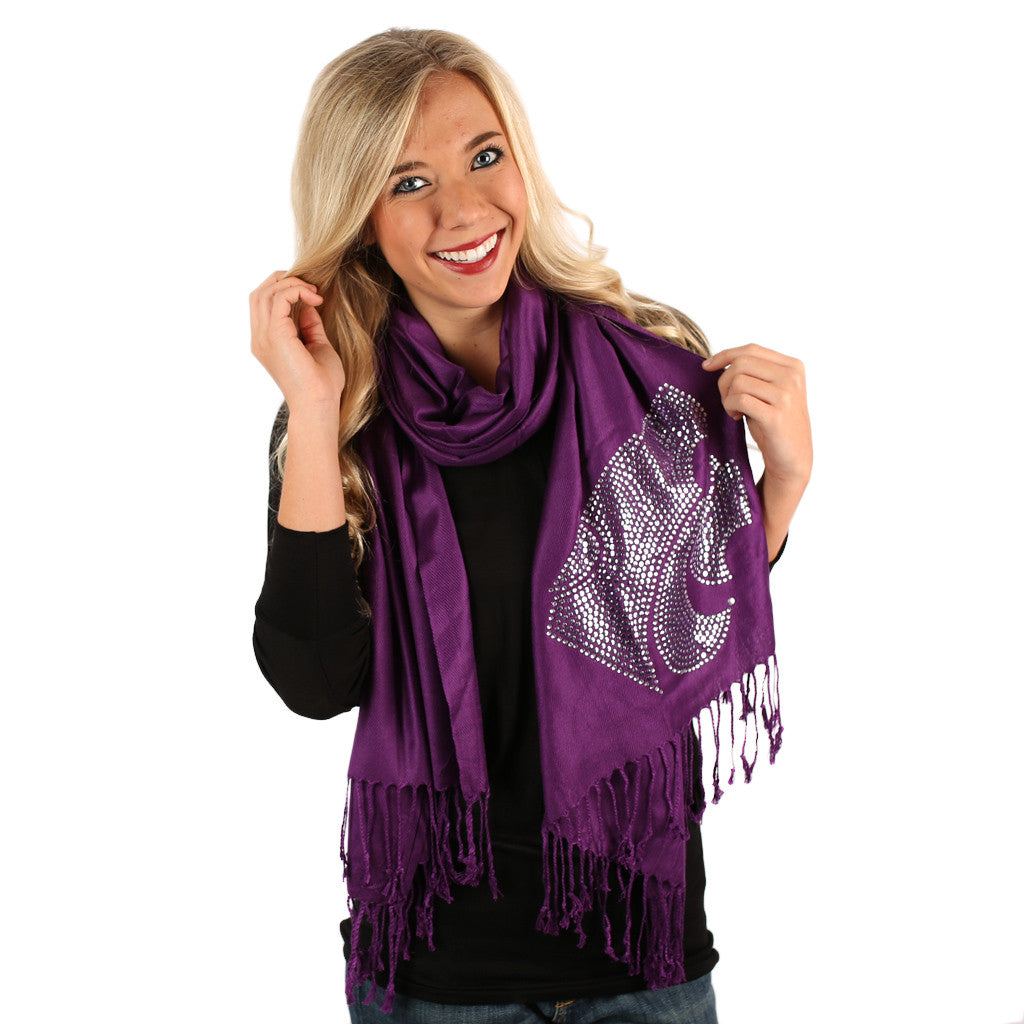 Sequin Pashmina K-State Scarf
