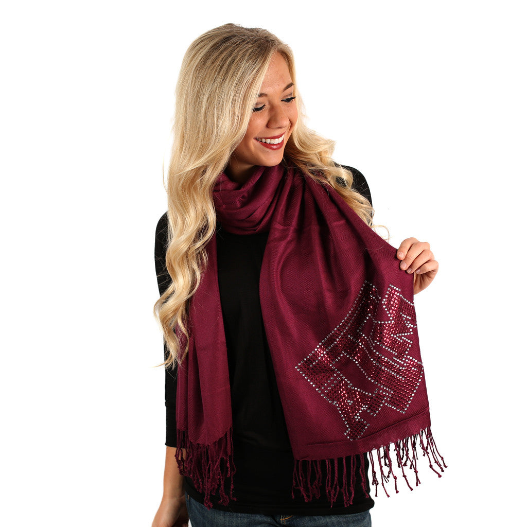Sequin Pashmina Texas A & M University