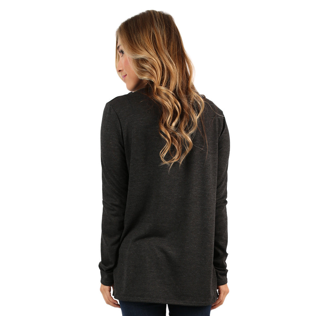 Ladies' Night Out Top in Charcoal