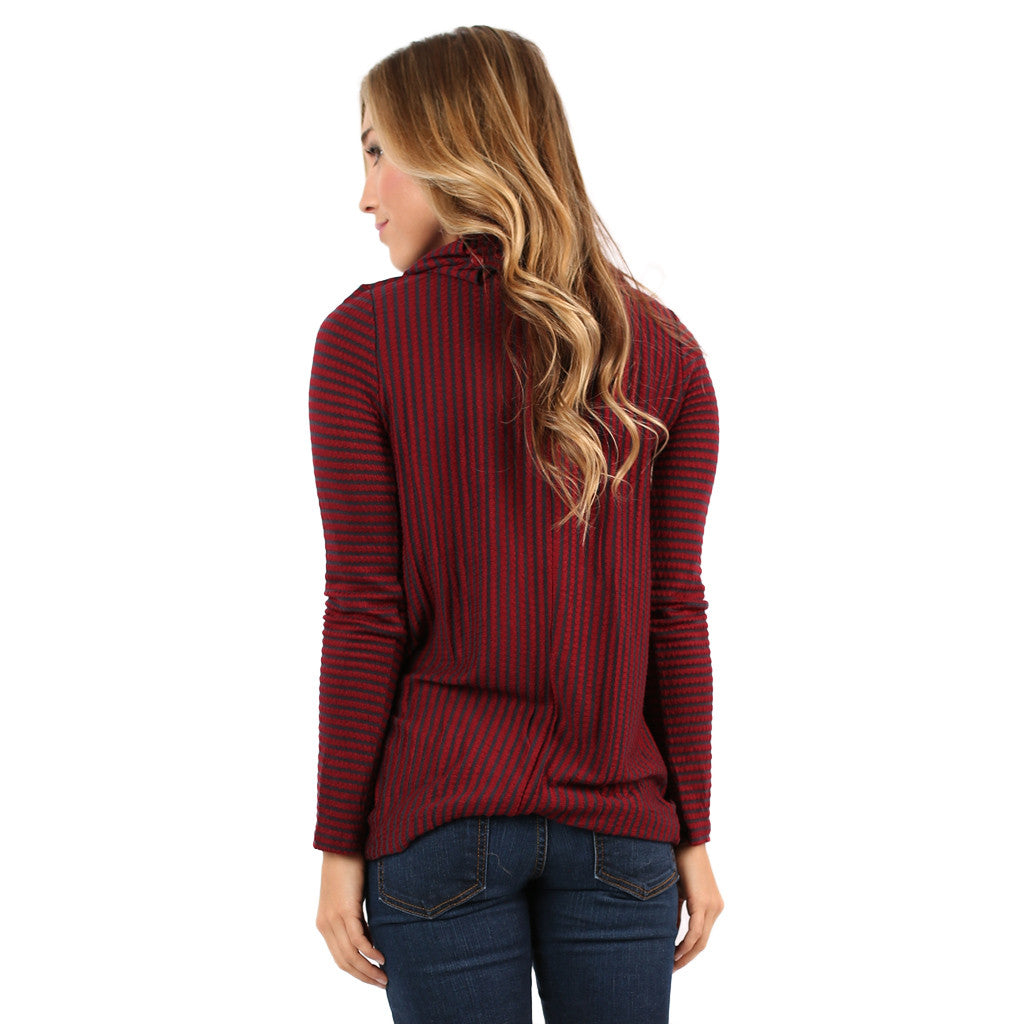 Southern Sweetness Top in Burgundy