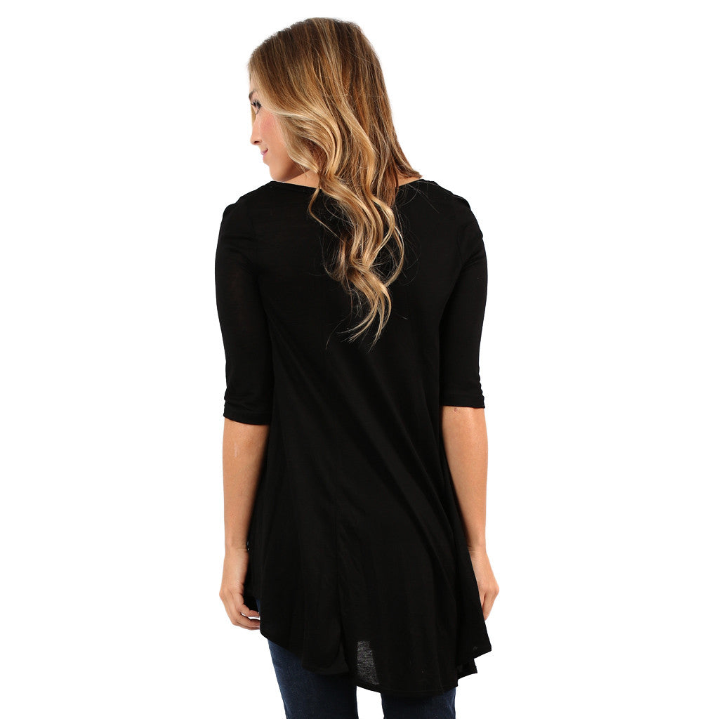 Swing With Me Tunic in Black