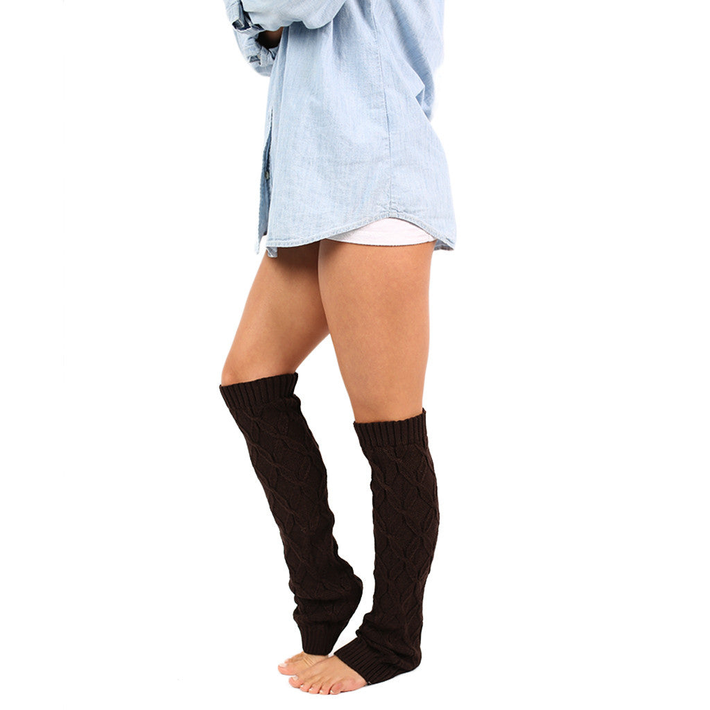 Keep Me Cozy Leg Warmer in Brown