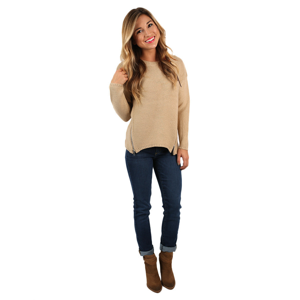 Vancouver Vacay Sweater Taupe