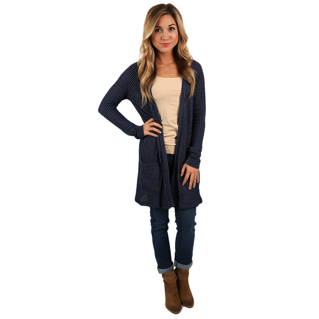 A Sure Thing Cardi Navy