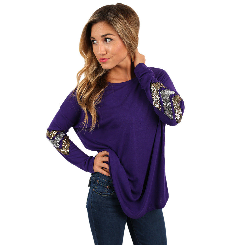 Champagne Sparkles Tee in Purple