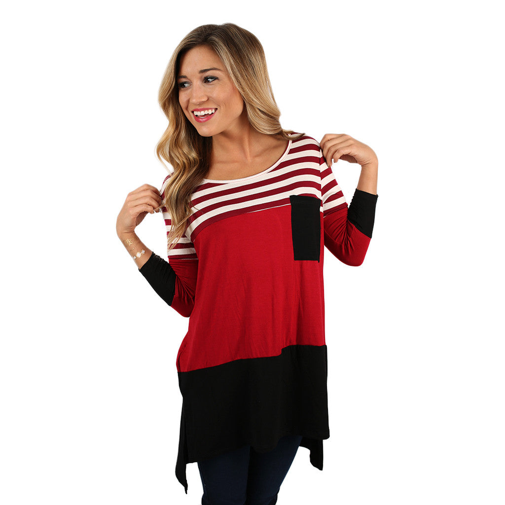 Girl's Best Friend Tunic in Red