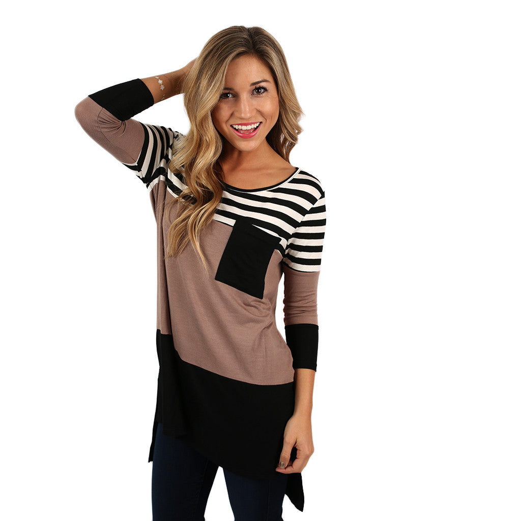 Girl's Best Friend Tunic in Taupe