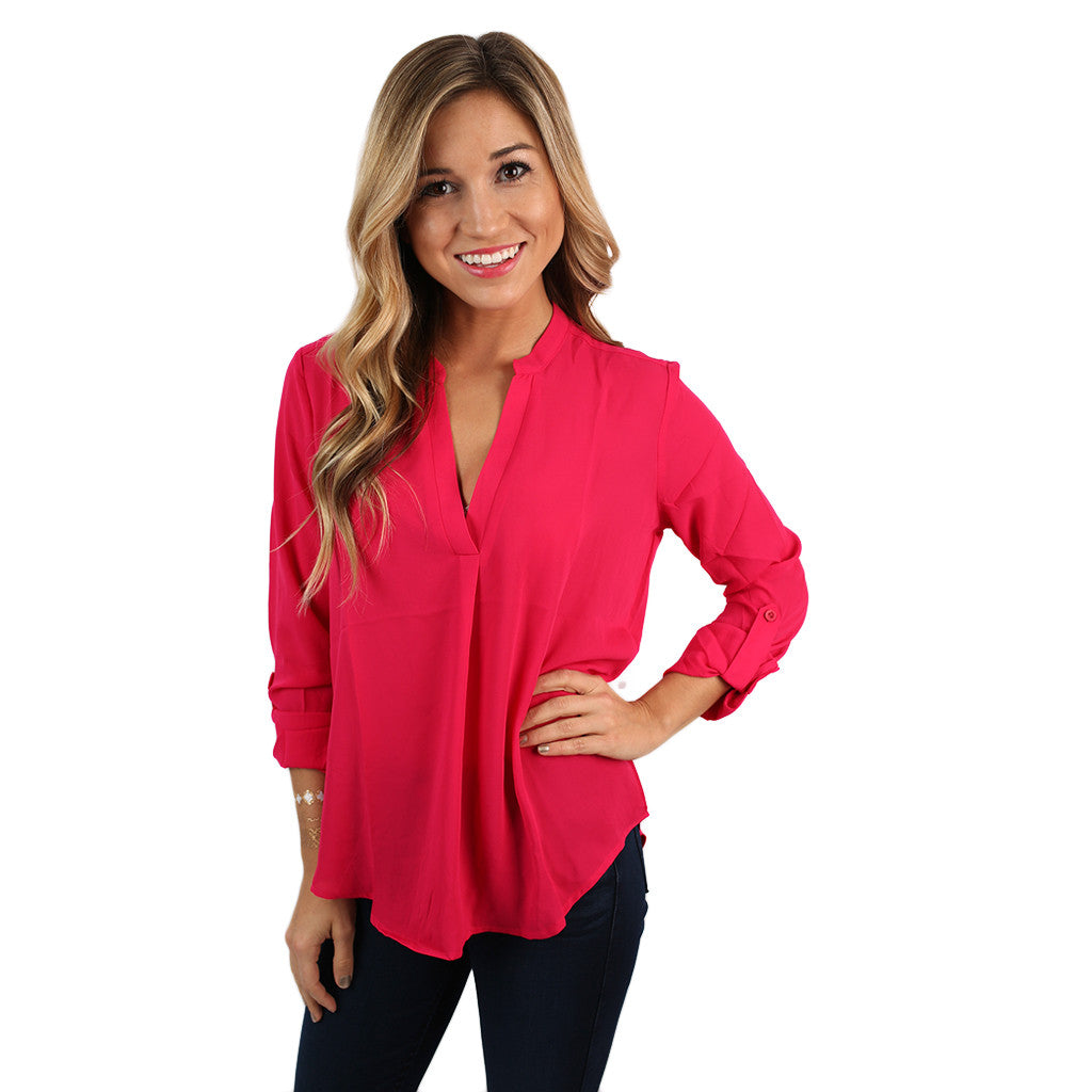 Glam Life Top in Hot Pink