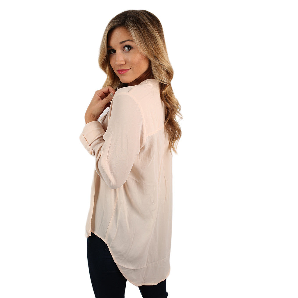 Glam Life Top in Blush