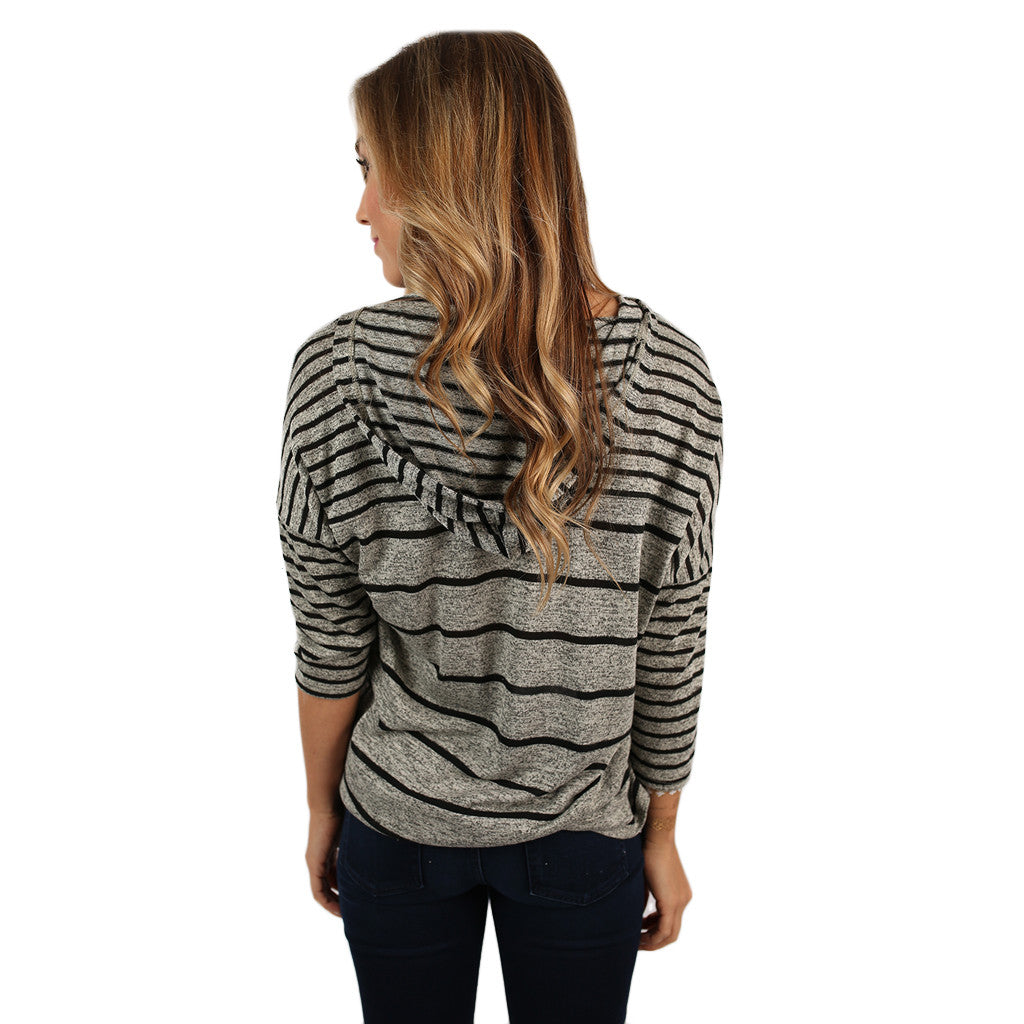 Shine On In Stripes Top