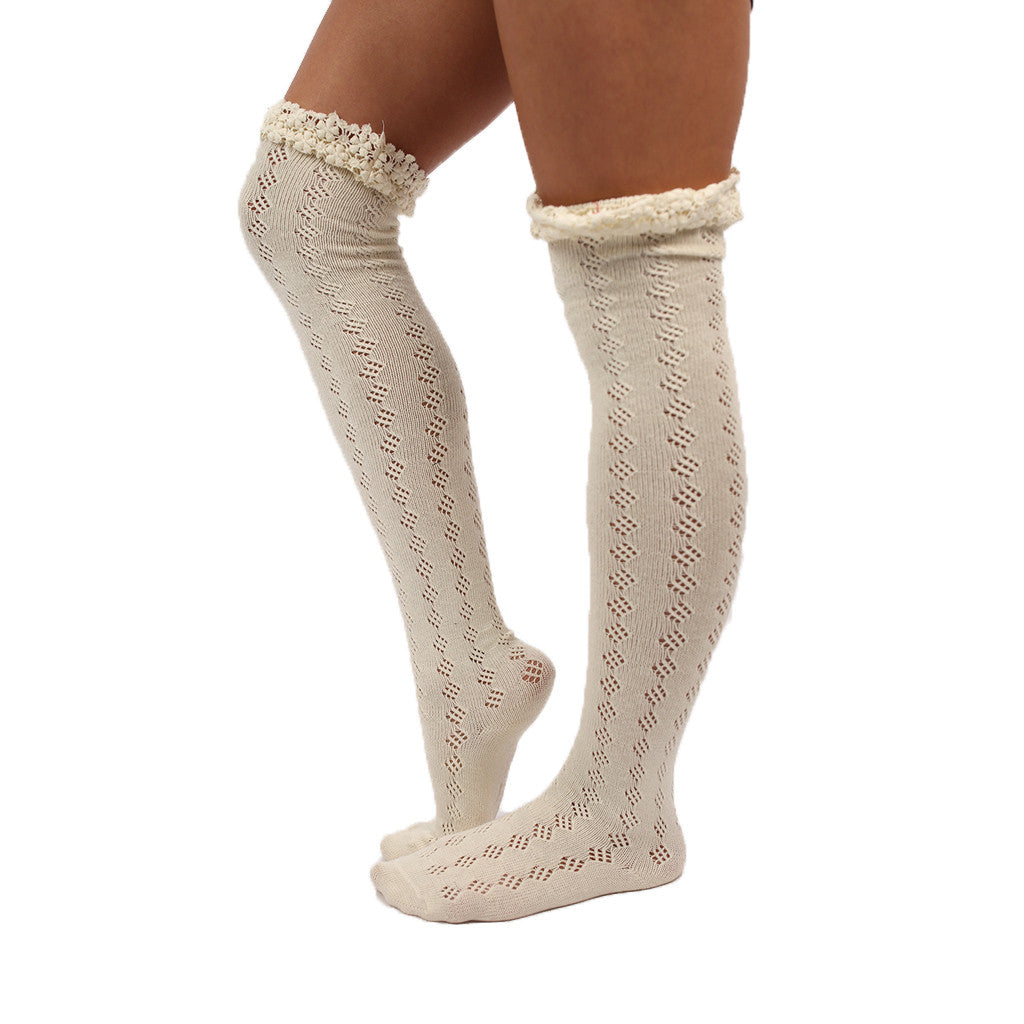 Crochet Cutie Sock in Ivory