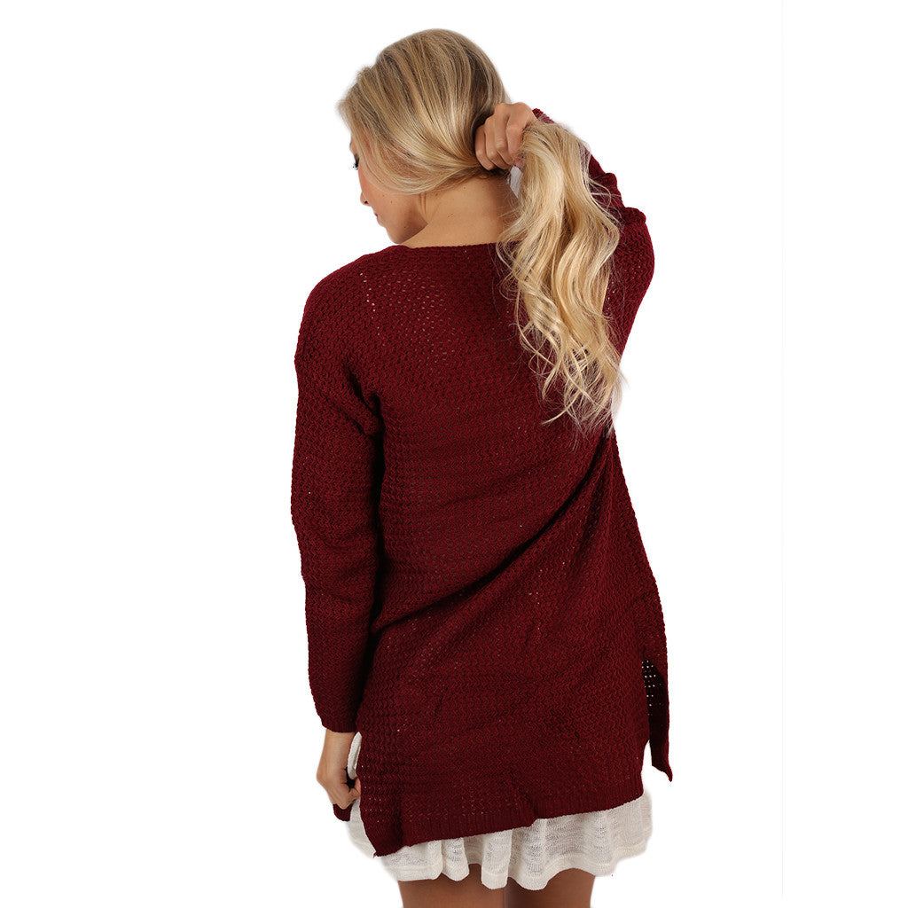 In the Valley Cardi Burgundy