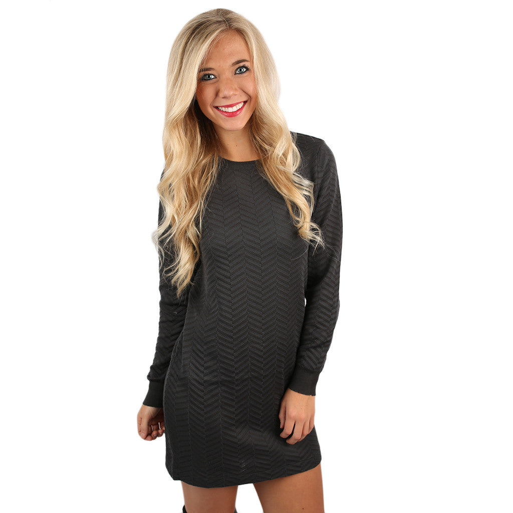 Weekend In Chicago Dress in Charcoal