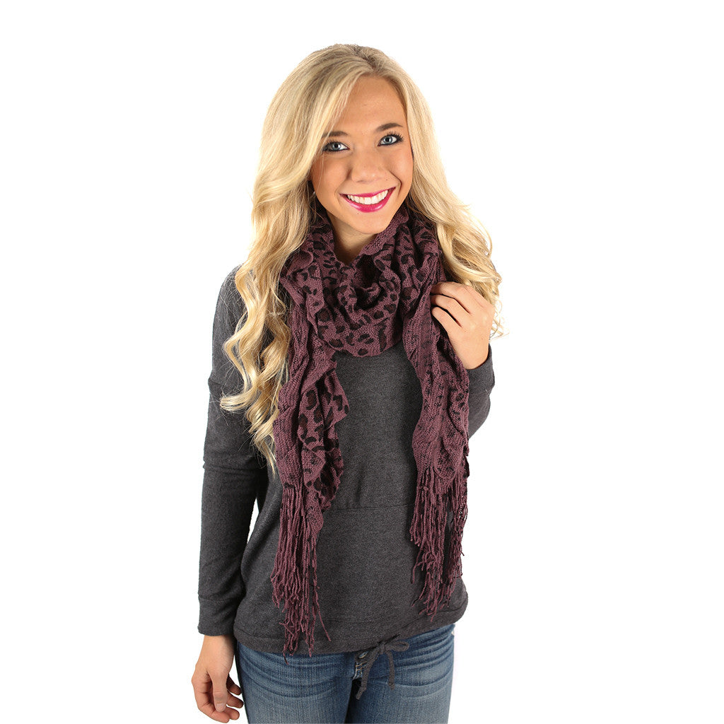 Cheetah So Pretty Scarf in Purple