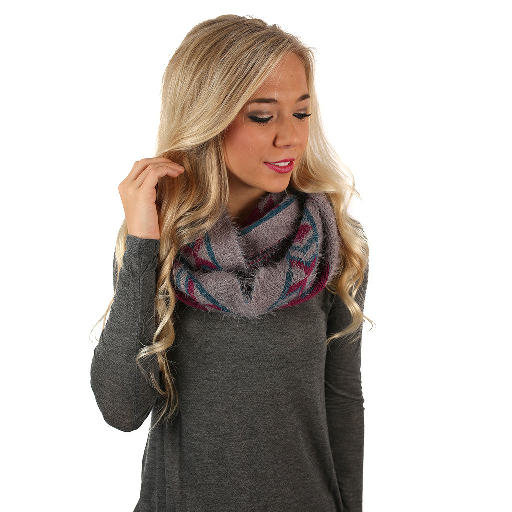 Cozy In Napa Infinity Scarf In Grey