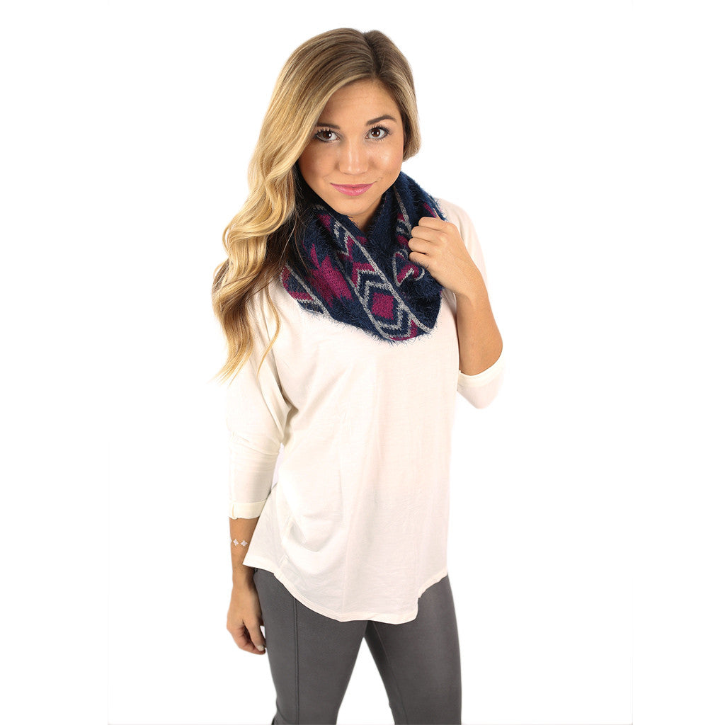 Cozy In Napa Infinity Scarf In Navy
