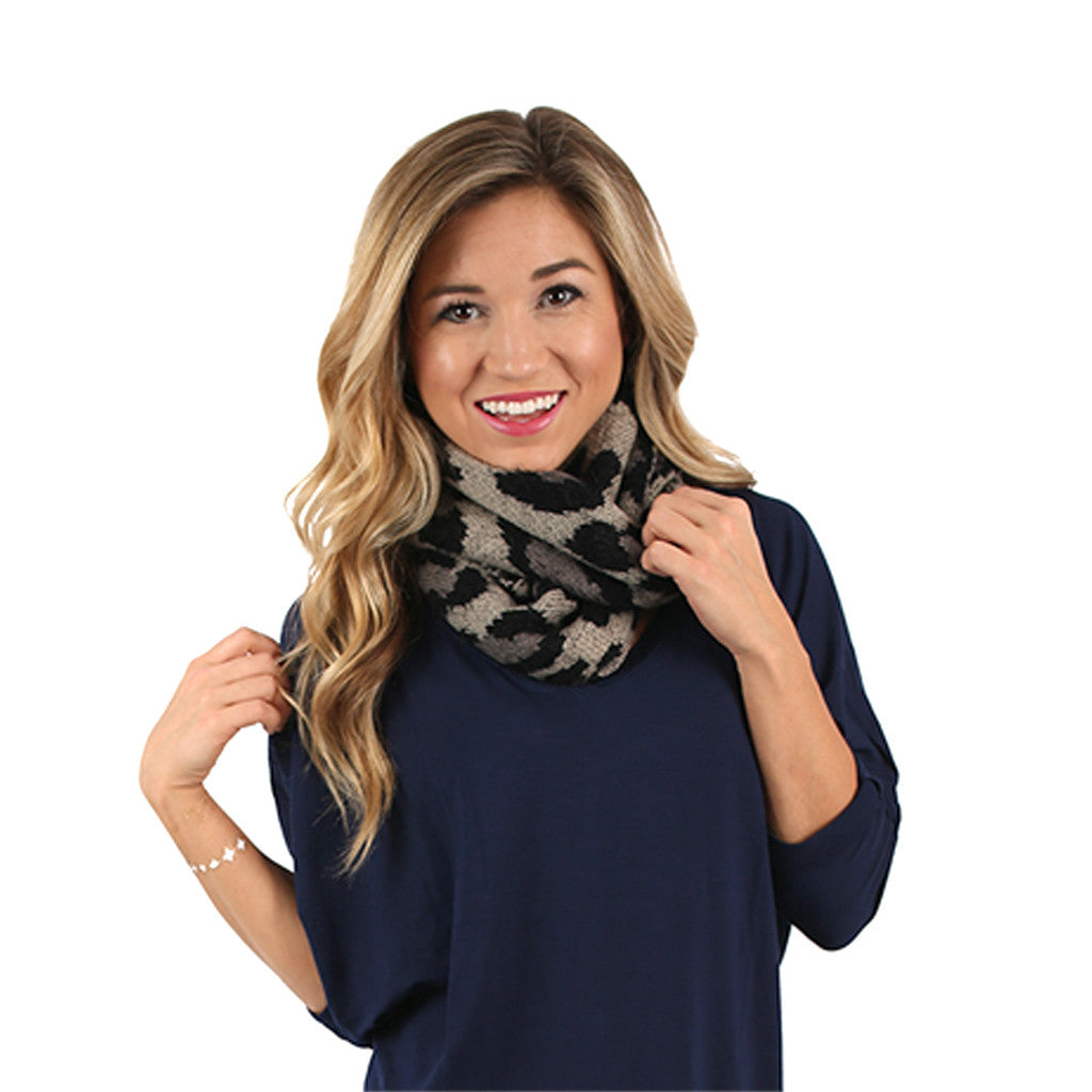 Take A Trip Infinity Scarf in Grey