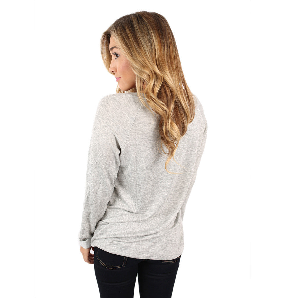 Miss Wonderful Top Heather Grey