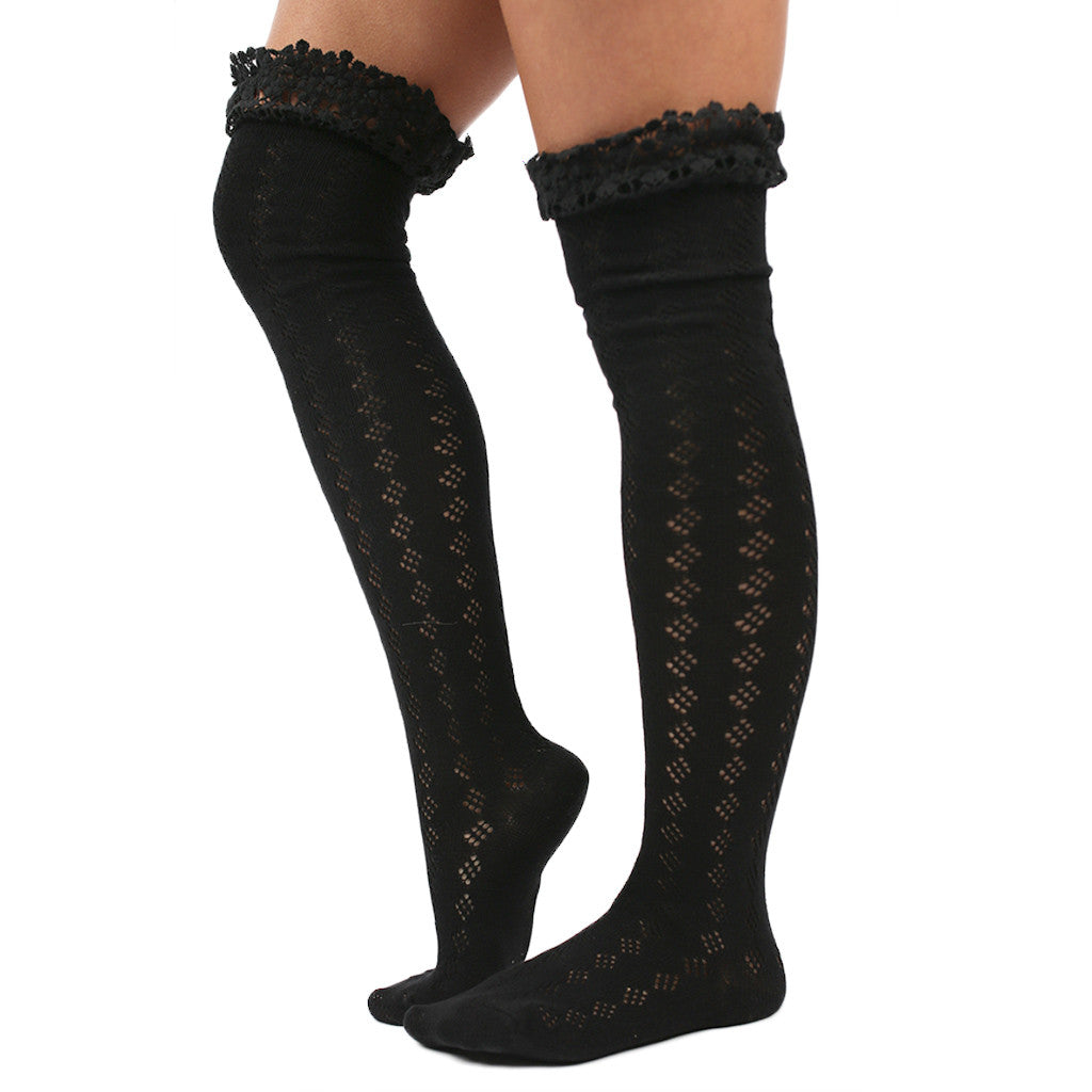 Crochet Cutie Sock in Black