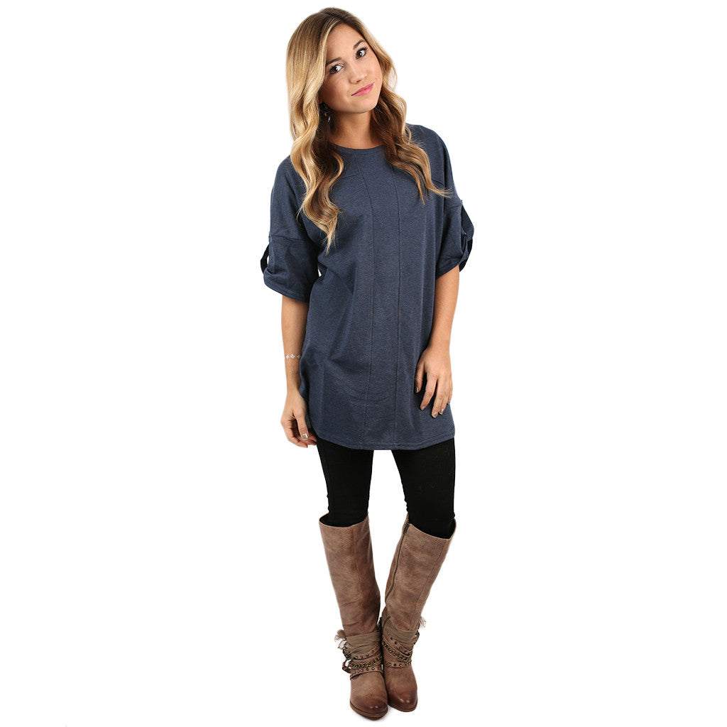 One of a Kind Tunic Navy