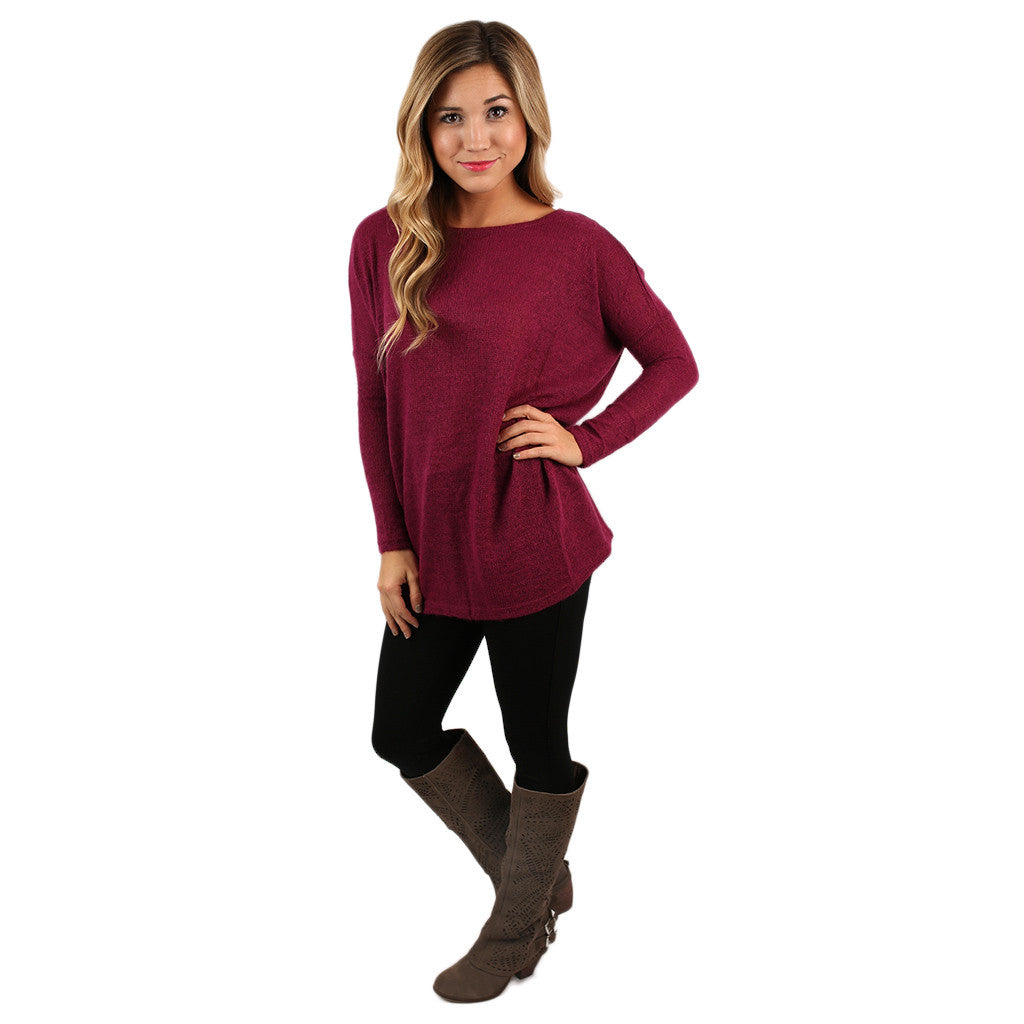 PIKO Sweater in Fuchsia