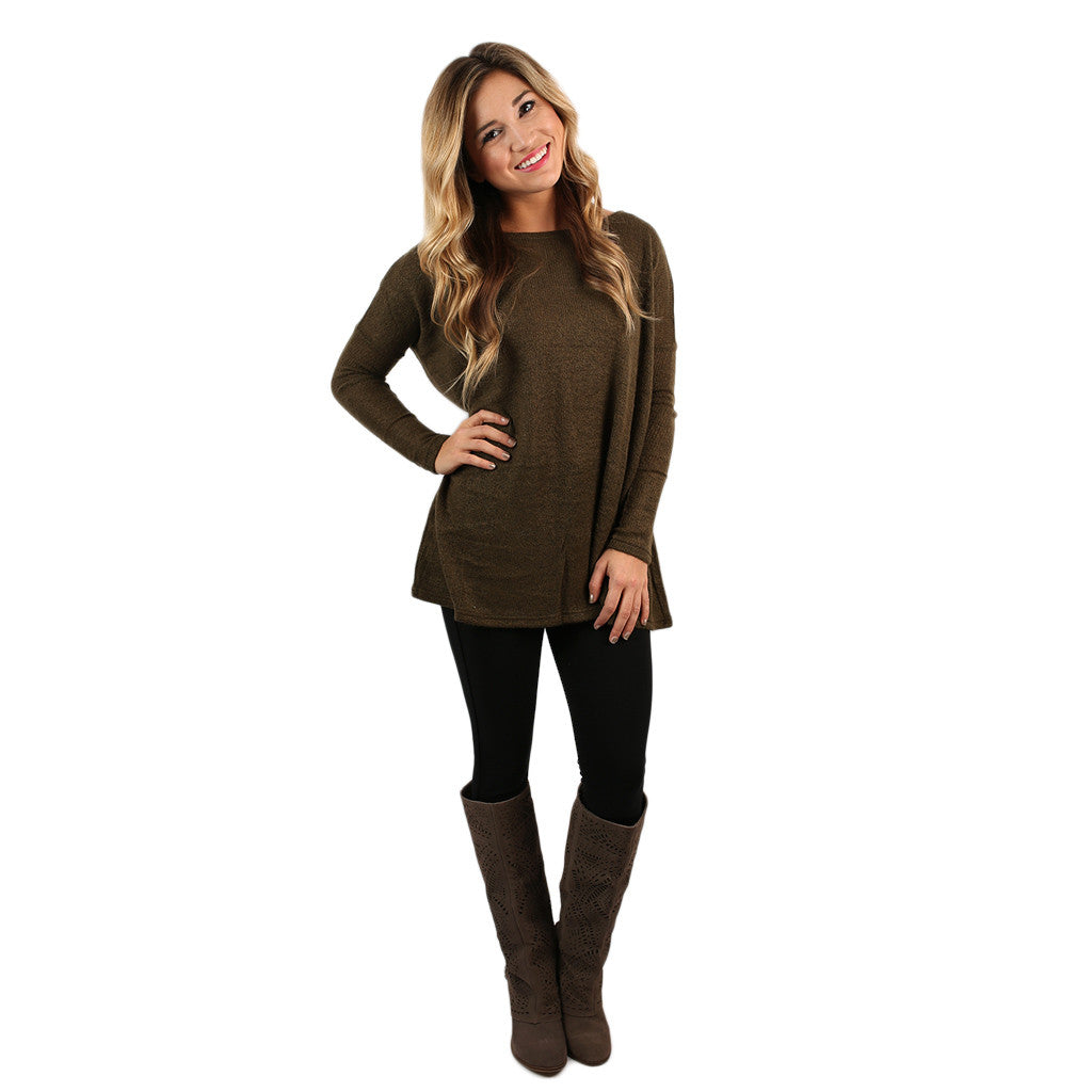 PIKO Sweater in Olive