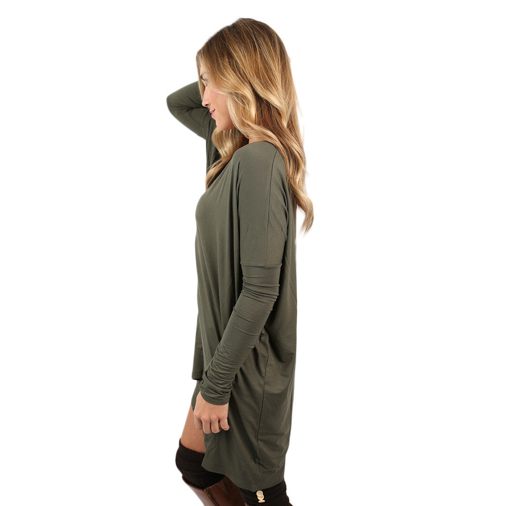 PIKO V-Neck Tunic in Army