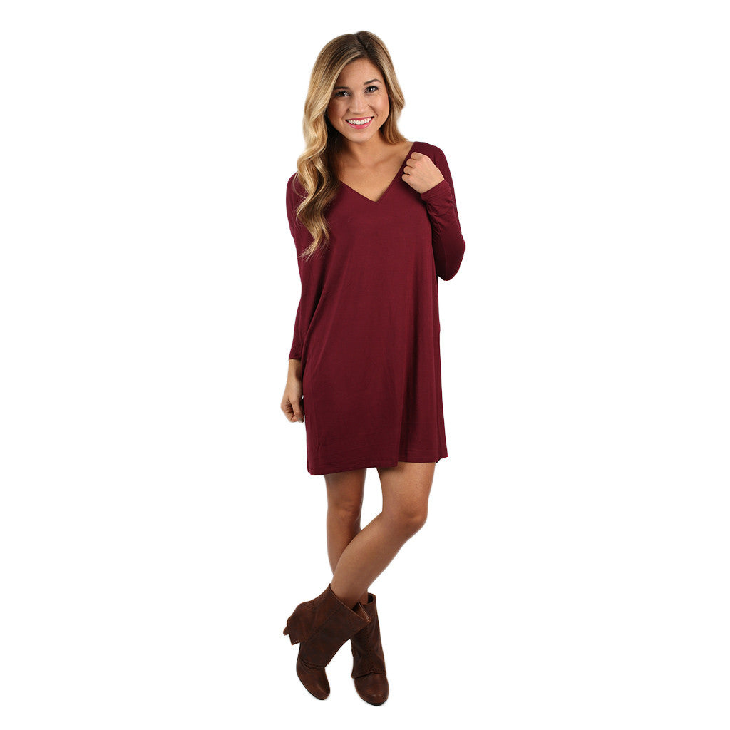 PIKO V-Neck Tunic in Plum