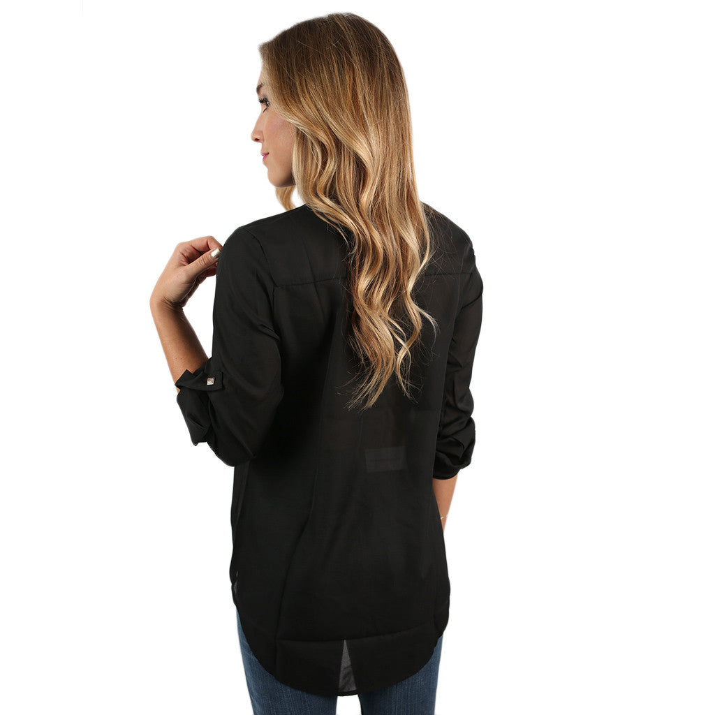 Sweetheart of the South Top Black