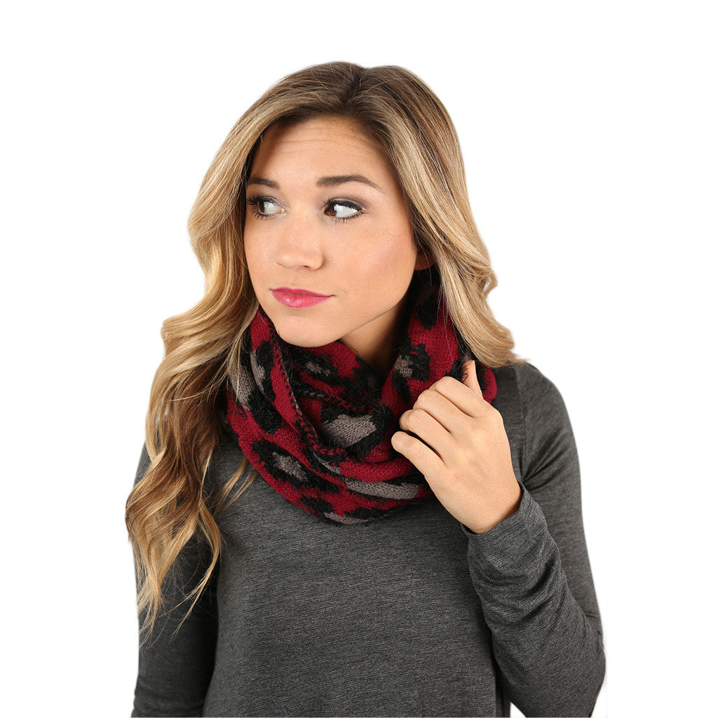 Take A Trip Infinity Scarf in Wine
