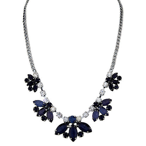 Jewel of My Eye Necklace Navy