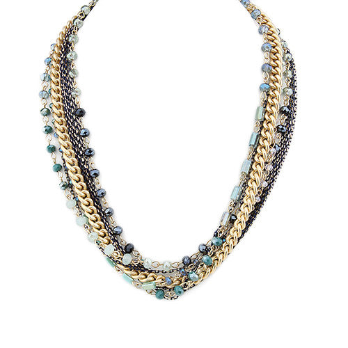 Strands of Pretty Necklace Teal
