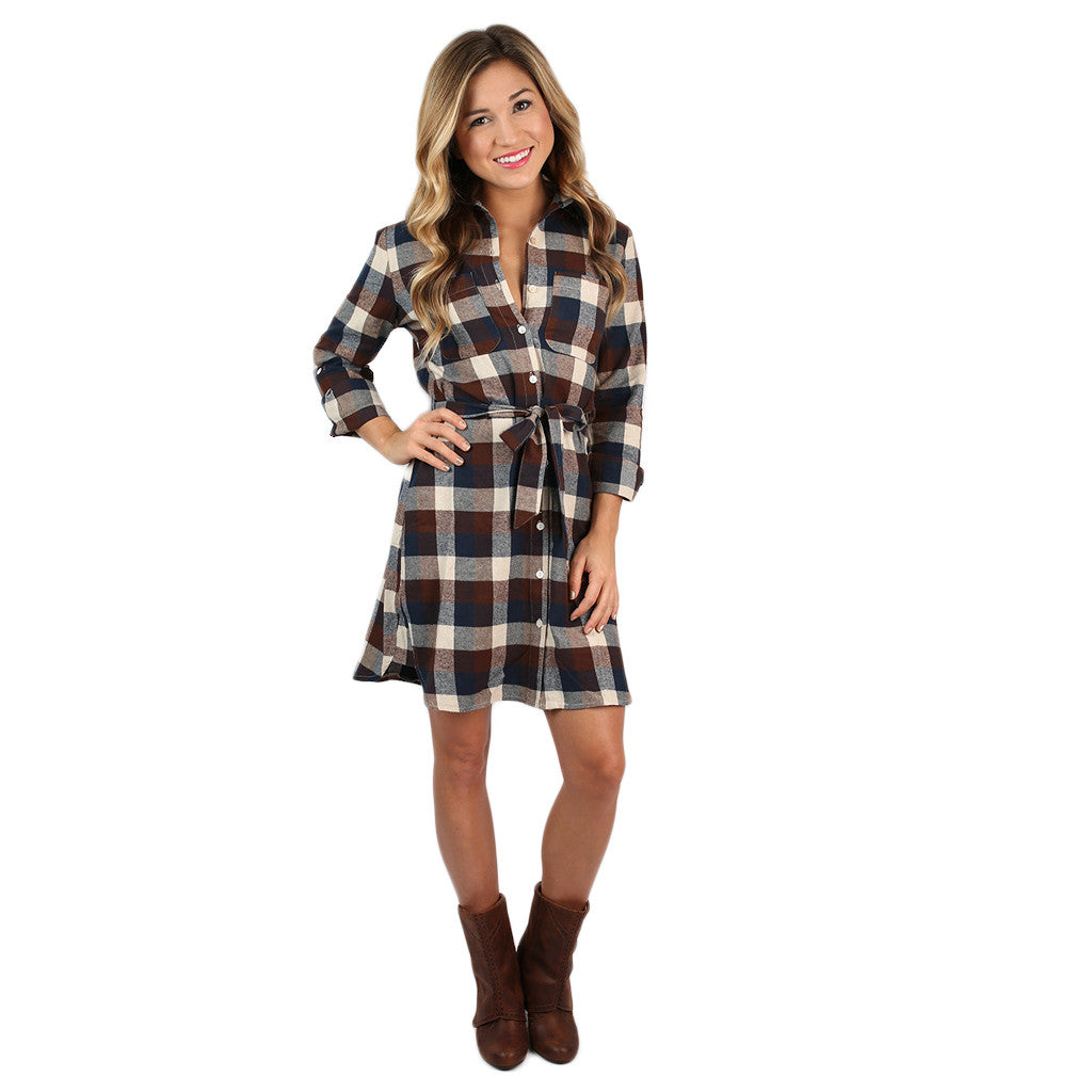 Live for the Applause Tunic Dress in Brown