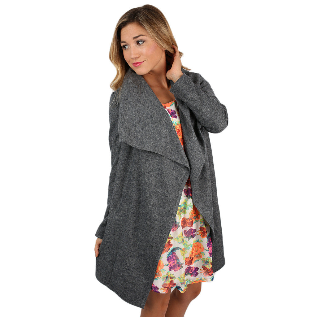 PIKO Drape Jacket in Grey