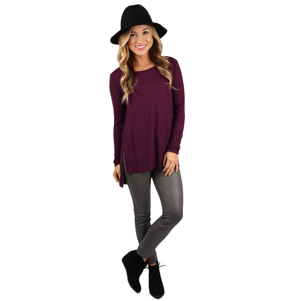 The Perfect Everyday Tunic Eggplant