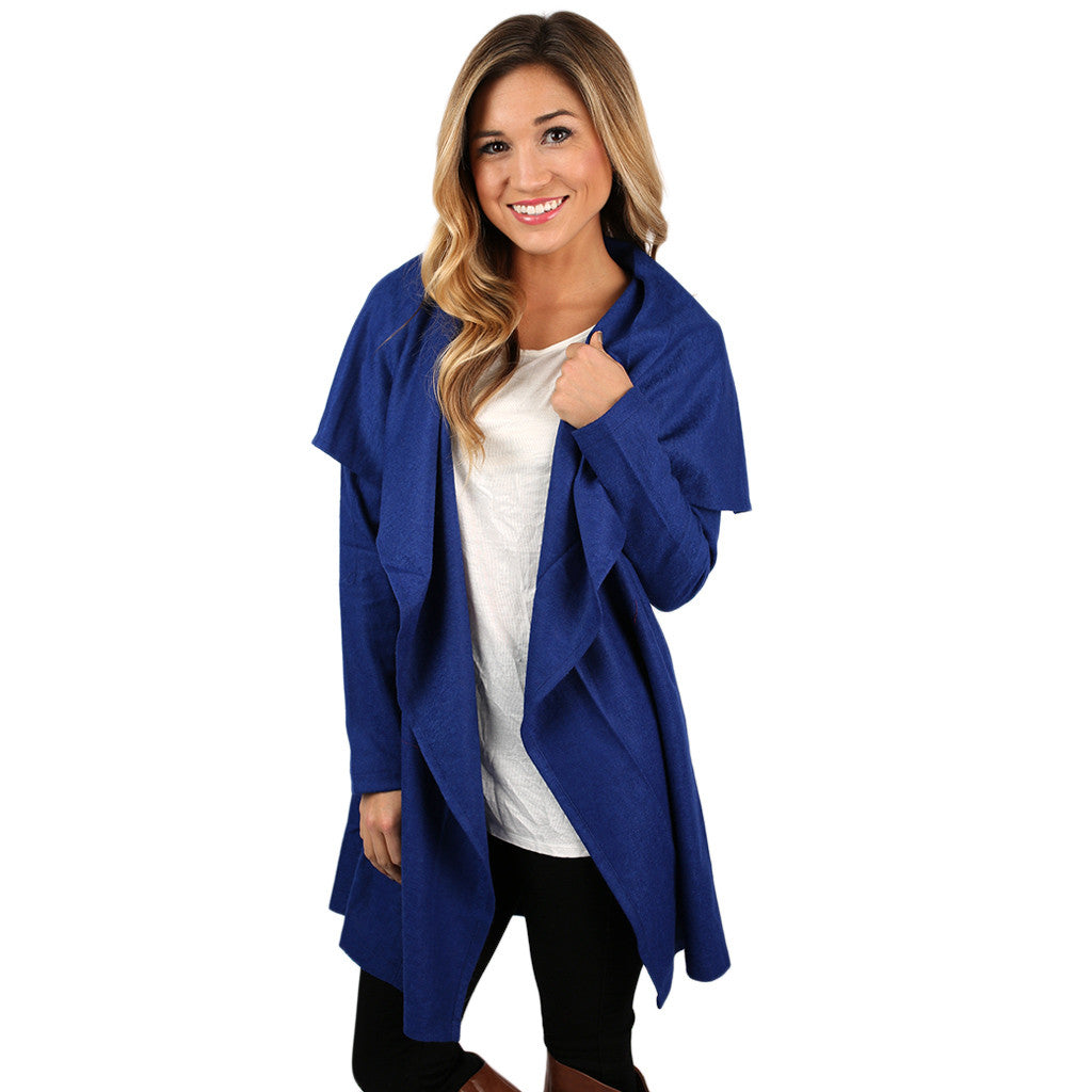 PIKO Drape Jacket in Midnight Blue