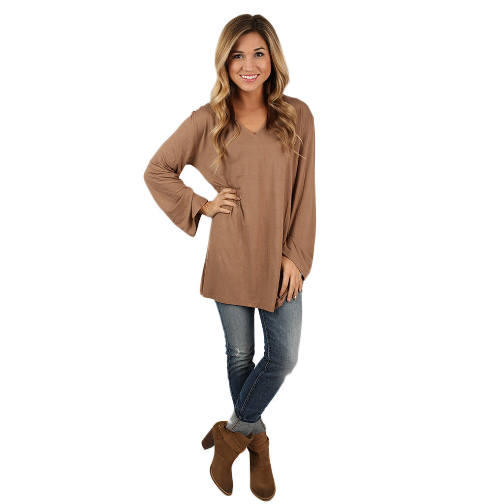 PIKO V-Neck Swing Tee Mocha