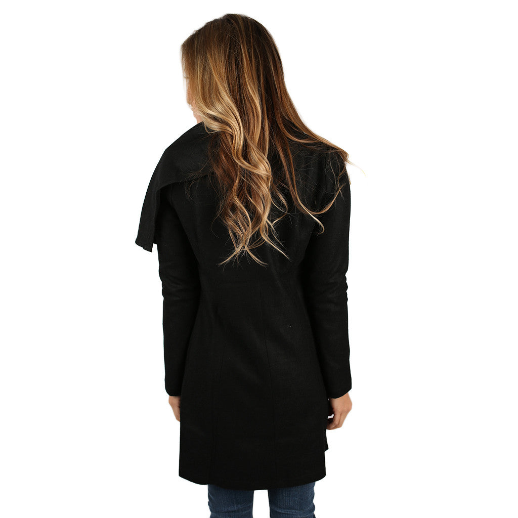 PIKO Drape Jacket in Black
