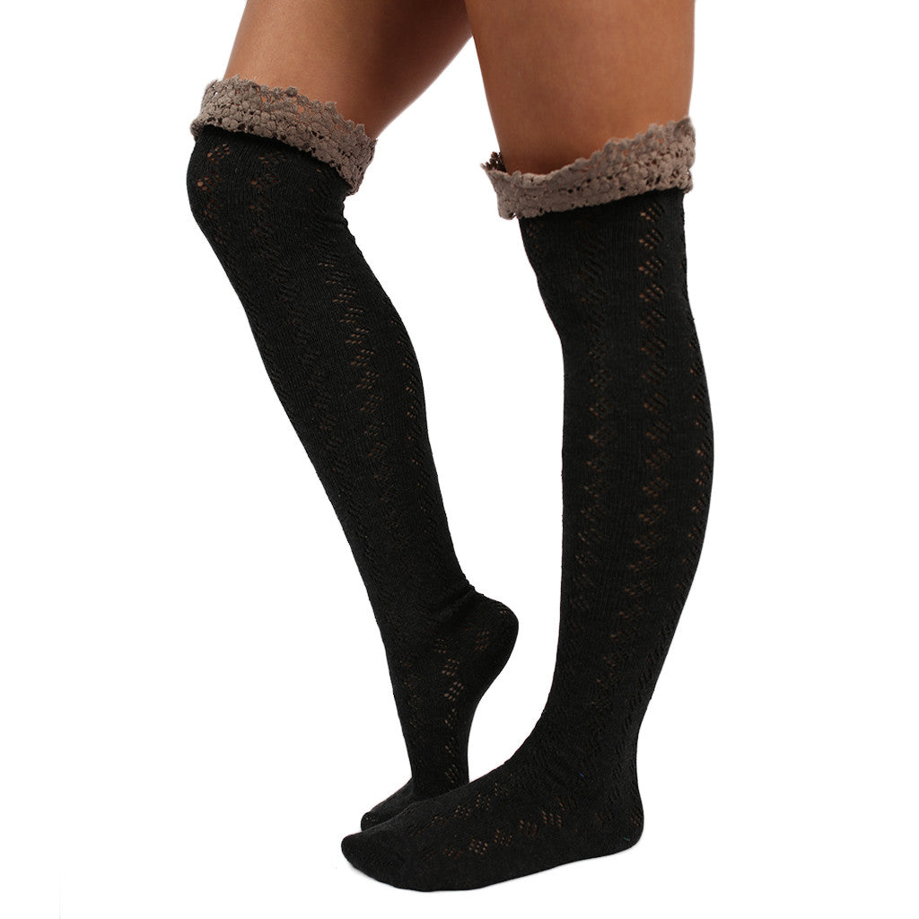 Crochet Cutie Sock Charcoal