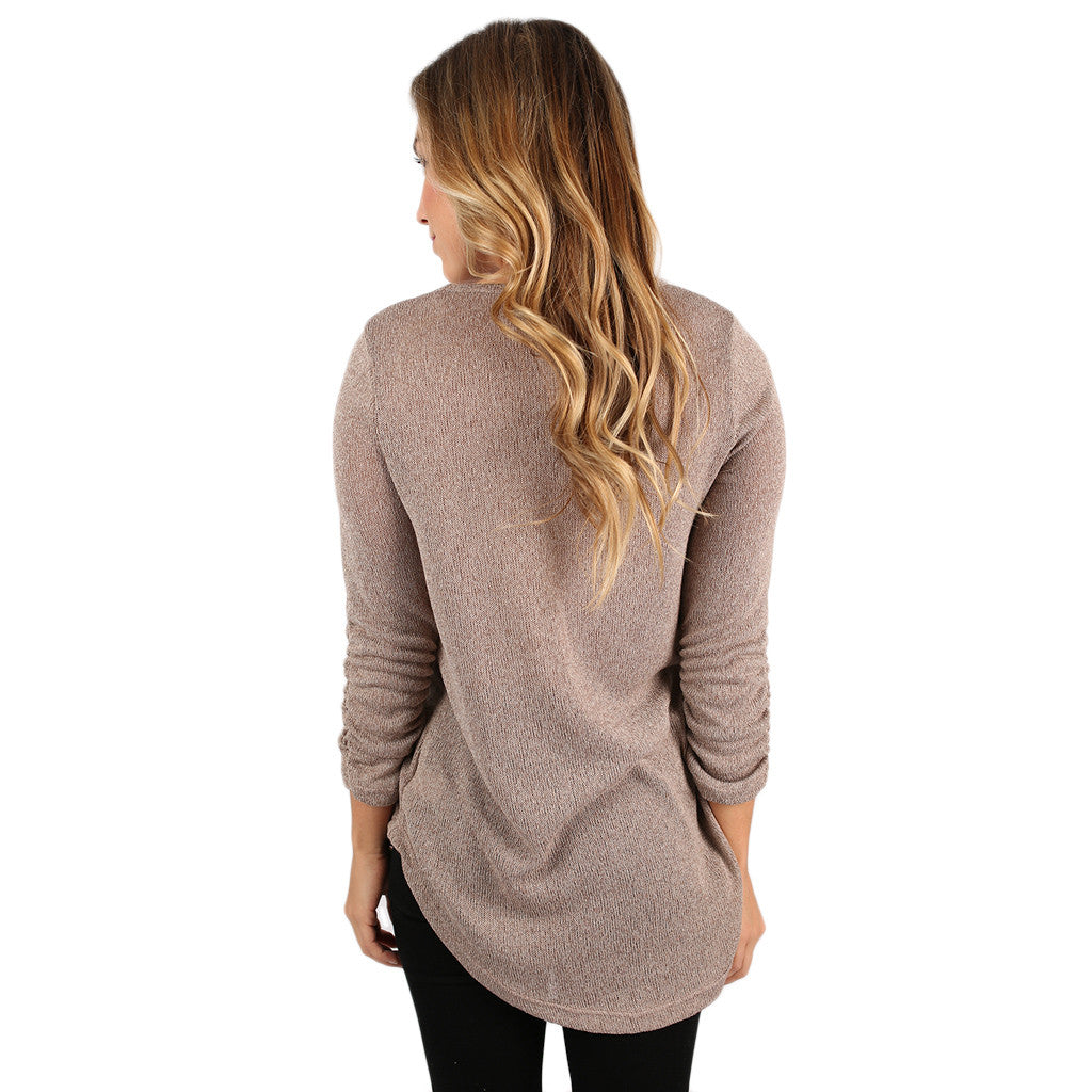 Leave Gazing Tee in Taupe