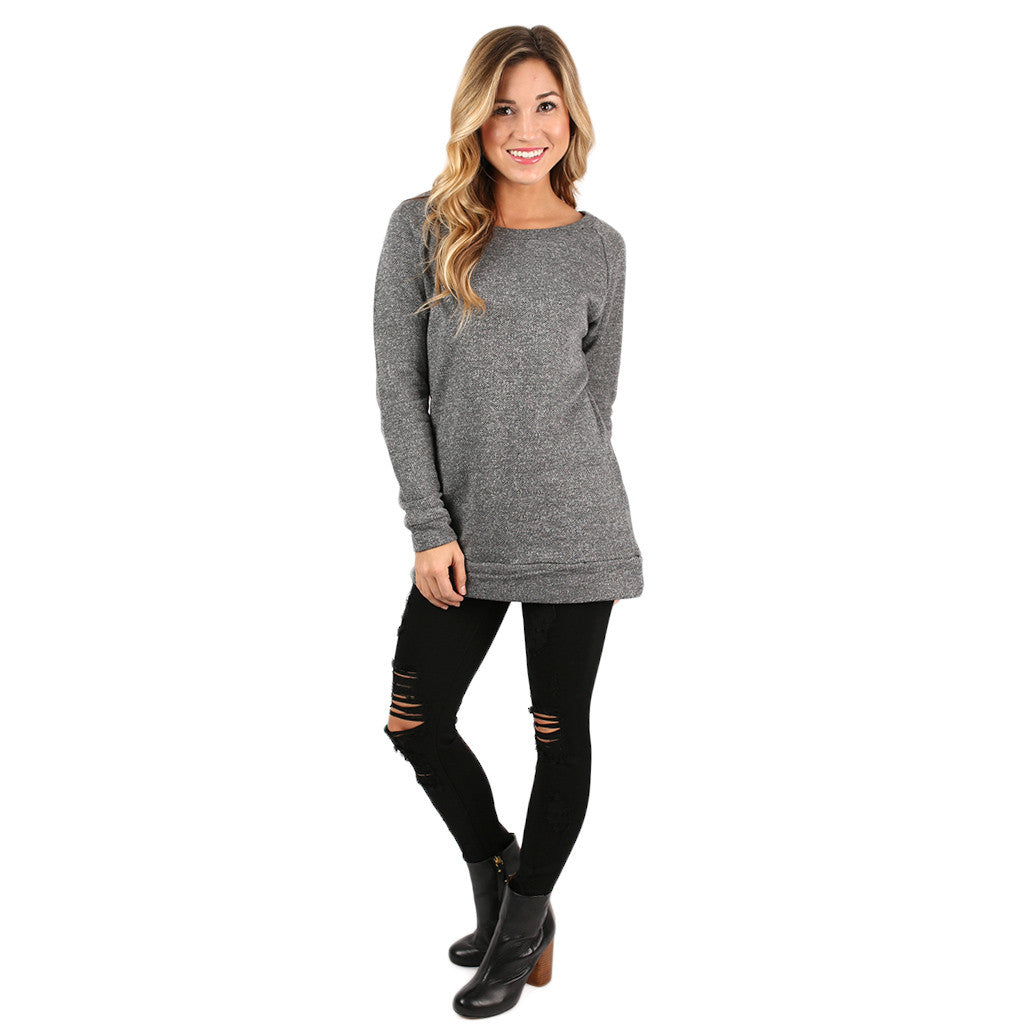 Simply The Comfiest Tunic in Charcoal