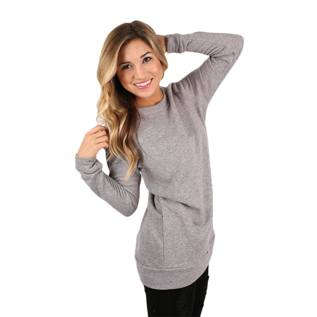 Simply The Comfiest Tunic in Grey